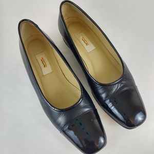 Talbots Black Leather Loafers